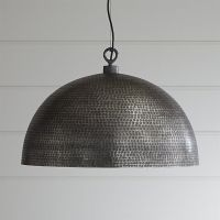 Large Metal Dome Pendant Light