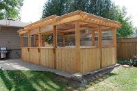 Enclosed Cedar Pergola Outdoor Swim Spa Gazebo Ideas ...