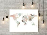 Best 20+ Map Wall Art ideas on Pinterest | Map wall decor ...