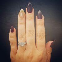 Matte maroon almond nails | nails | Pinterest | Nails ...