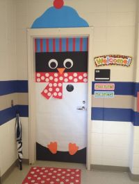 Penguin door dec, some inspiration for a Christmas college