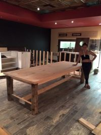 Custom design and hand made solid pine 10' harvest table ...