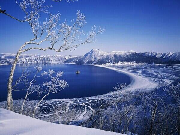 Pinterest Wallpapers Fall Lake Mashu Hokkaido During Winter Beautiful Scenery