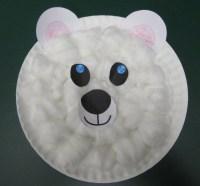 Polar Bear paper plate   Penguin and Polar Bear Ideas for ...