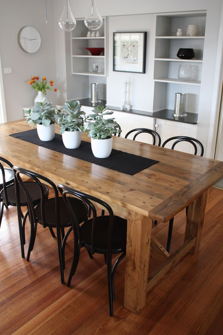 dining tables chairs modern kitchen tables Black chairs and wood table