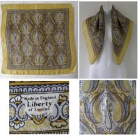 1950's Vintage LIBERTY OF LONDON Yellow Paisley Print ...