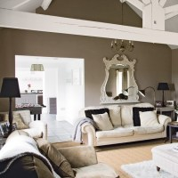 taupe walls and white beams - | INTERIOR / taupe ...