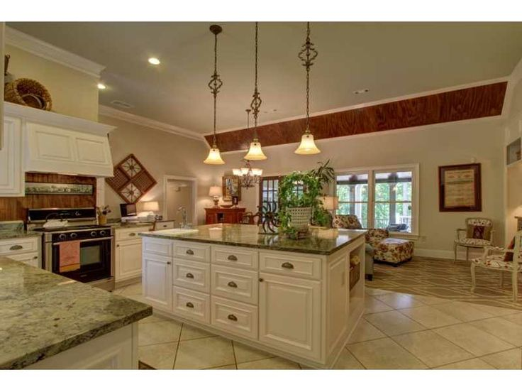 Cream Colored Kitchen Island Pendant Lights Over Kitchen Island | Home- Kitchens