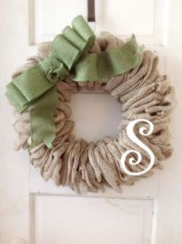 Best 25+ Burlap initial wreath ideas on Pinterest ...