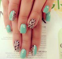 cute-cheetah-acrylic-nails | nail designs | Pinterest ...