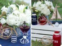 nautical table setting ideas | Justine's wedding / Table ...