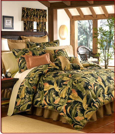 Brown Duvet Cover Tropical Bedding Ensembles | Tropical Bedding | Jungle Bed