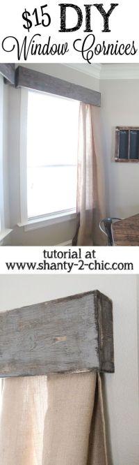 Best 20+ Wooden Valance ideas on Pinterest   Window ...