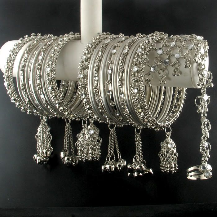 India Trend Ebay Details About Silver Kundan Bangle