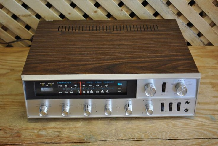 Record Turntable Vintage Lafayette Lr-1500ta Stereo Receiver * Serviced
