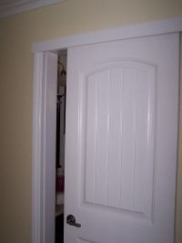 Wall-mount sliding door to create more space in bathroom ...