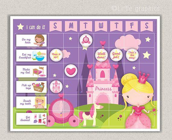 princess reward chart