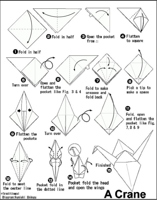 origami flapping bird instructions diagram and video this origami