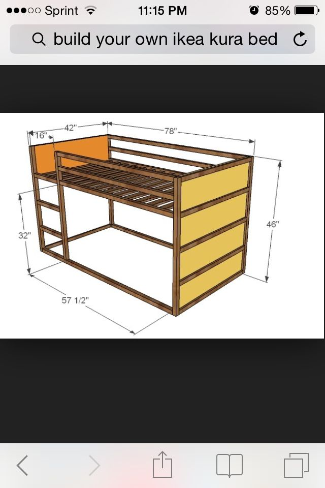 Dimensions Of The Ikea Kura Bed Lit Kura Pinterest