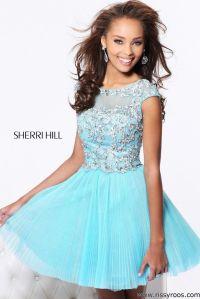 Baby Blue Short Dresses For Prom
