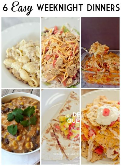 6 Easy Weeknight Dinners for Busy Families | Fast Recipes | Pinterest | Cas, Weeknight dinners ...