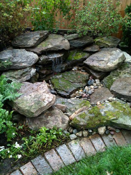 natural small pondless waterfalls