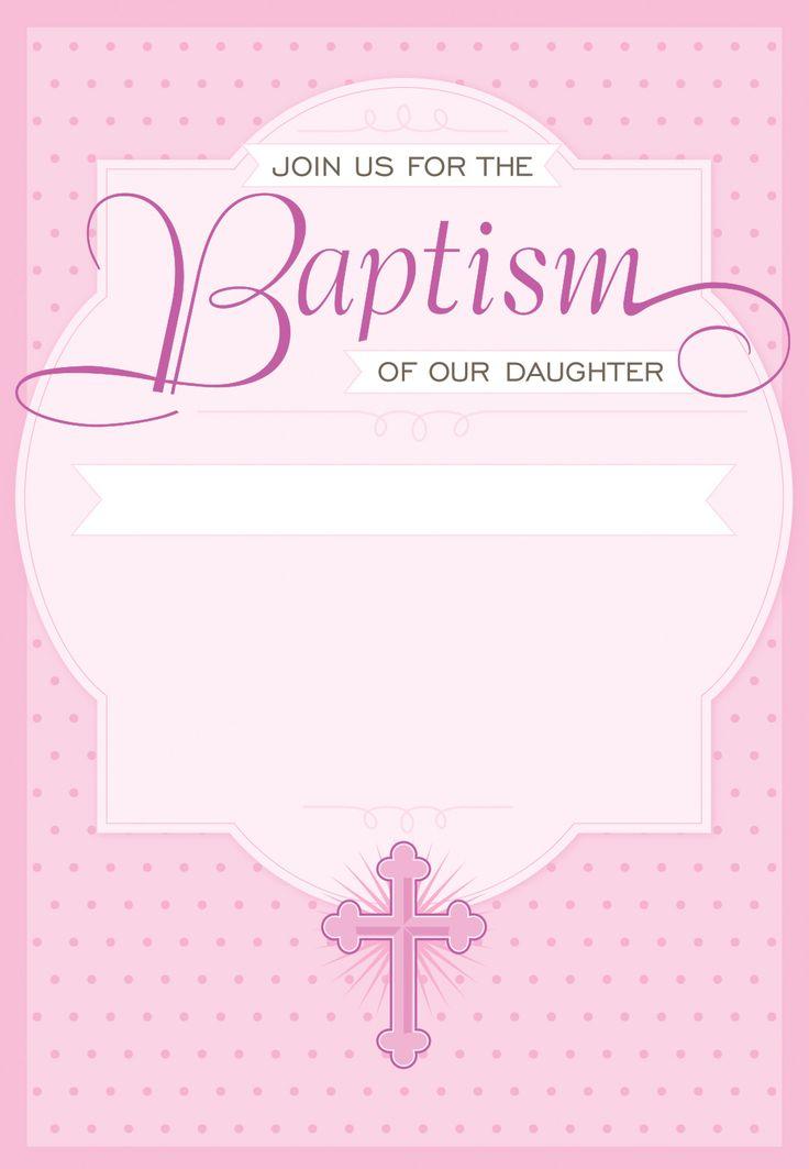 Dotted Pink Free Printable Baptism Christening
