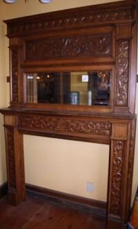Antique oak fireplace mantel.   Antique Fireplace Mantels ...