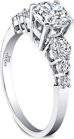 Ring this diamond engagement ring features three graduated round