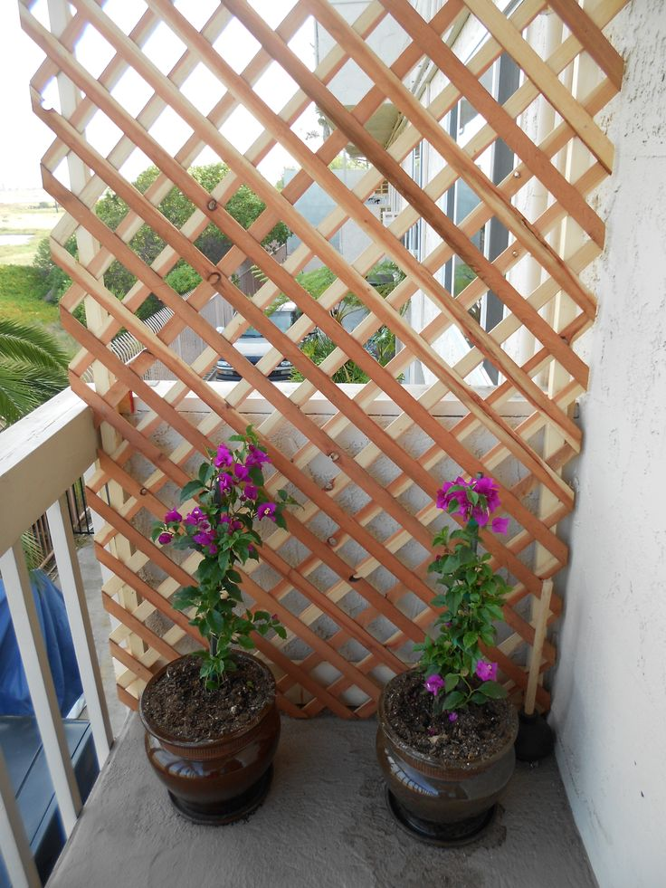 Design Sichtschutz Create A Beautiful Private Balcony By Using Some Lattice