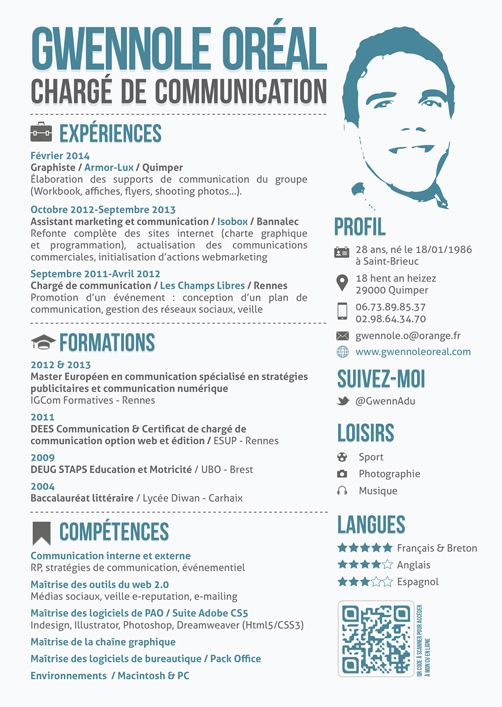 cv design charge de communication