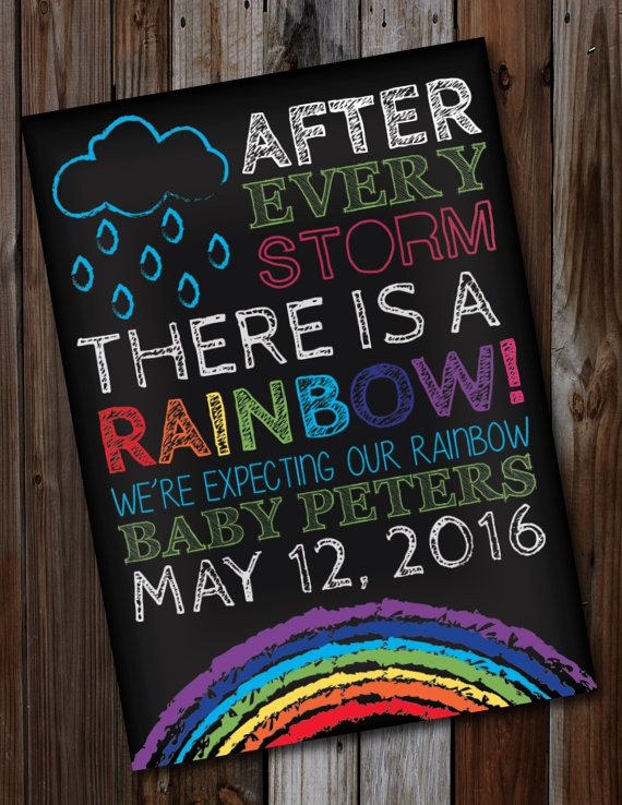 25+ best ideas about Rainbow baby announcement on