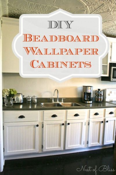 25+ best ideas about Wallpaper Cabinets on Pinterest | Wallpaper drawers, Bead board cabinets ...