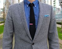 J.Crew Donegal Tweed Suit | The Tie Bar Black Tie and Pink ...