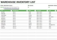 Learn Microsoft Excel: Warehouse inventory template free ...