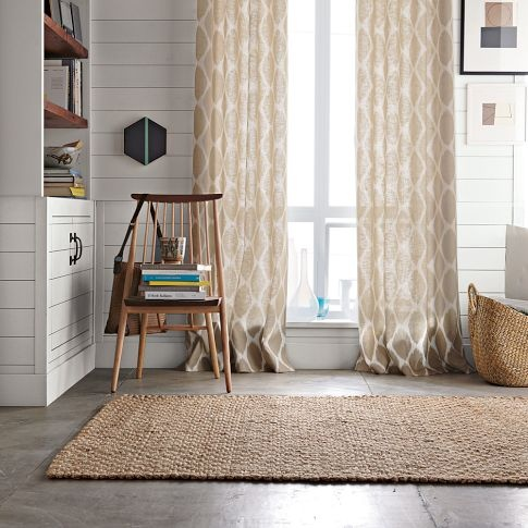 Living room curtains from west elm family room curtains