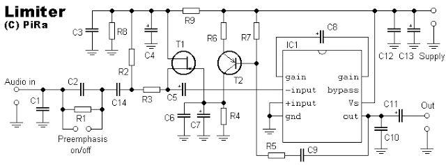 schematic audio limiter