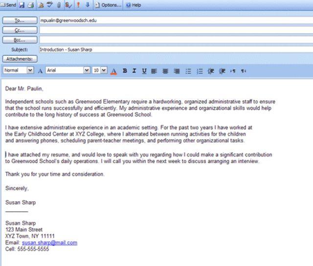 resume cover letter subject line