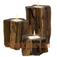 Rustic candle holders for Mantle | For the Home ...