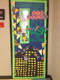 Ninja Turtles anti bullying classroom door! 'My creation ...