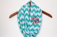 Tiffany Blue Monogrammed Chevron Infinity Scarf - Soft ...