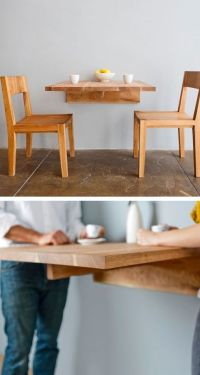 Wall mounted dining table. Great for small spaces ...