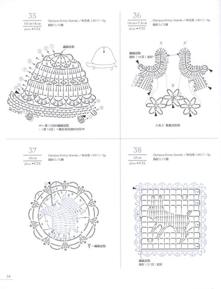 rose flower diagram crochet flowers diagram 7