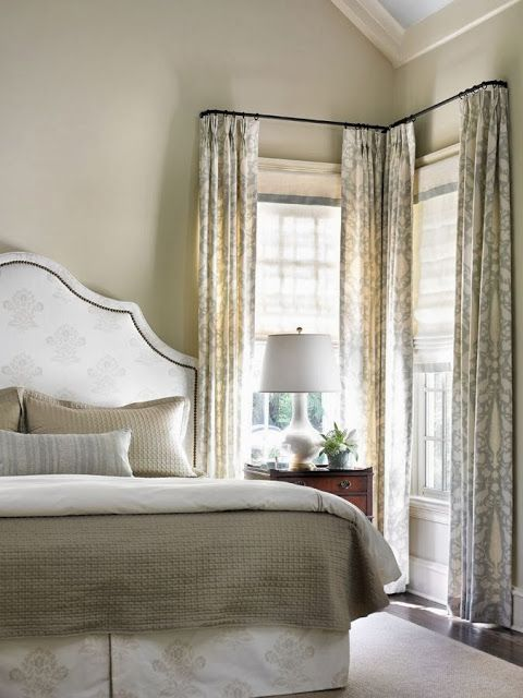 25+ best ideas about Corner window treatments on Pinterest