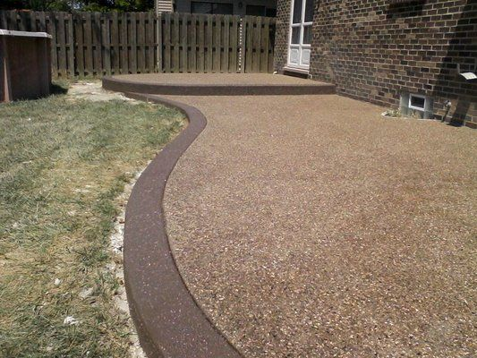Exposed Aggregate Patio Walkway And Driveway Inspiration