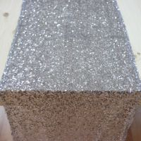 Sequin Table Runner - Silver | Gold & Silver Party ...