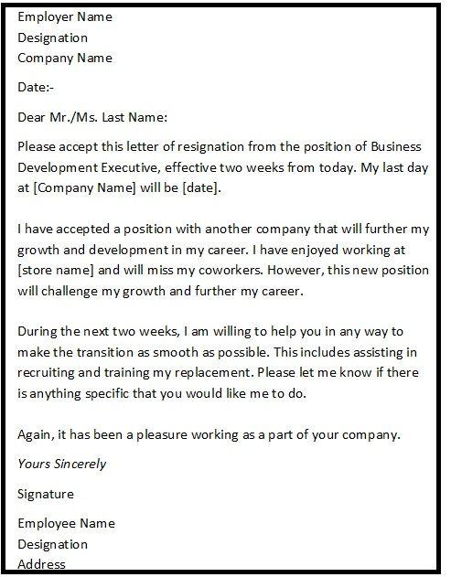 Resignation Letter Format The Balance 1000 Idee235;n Over Resignation Letter Op Pinterest Cv