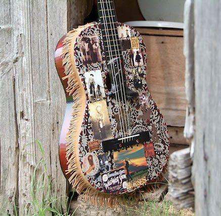 Vintage cowboy theme catalog gt cowboy fringe guitar