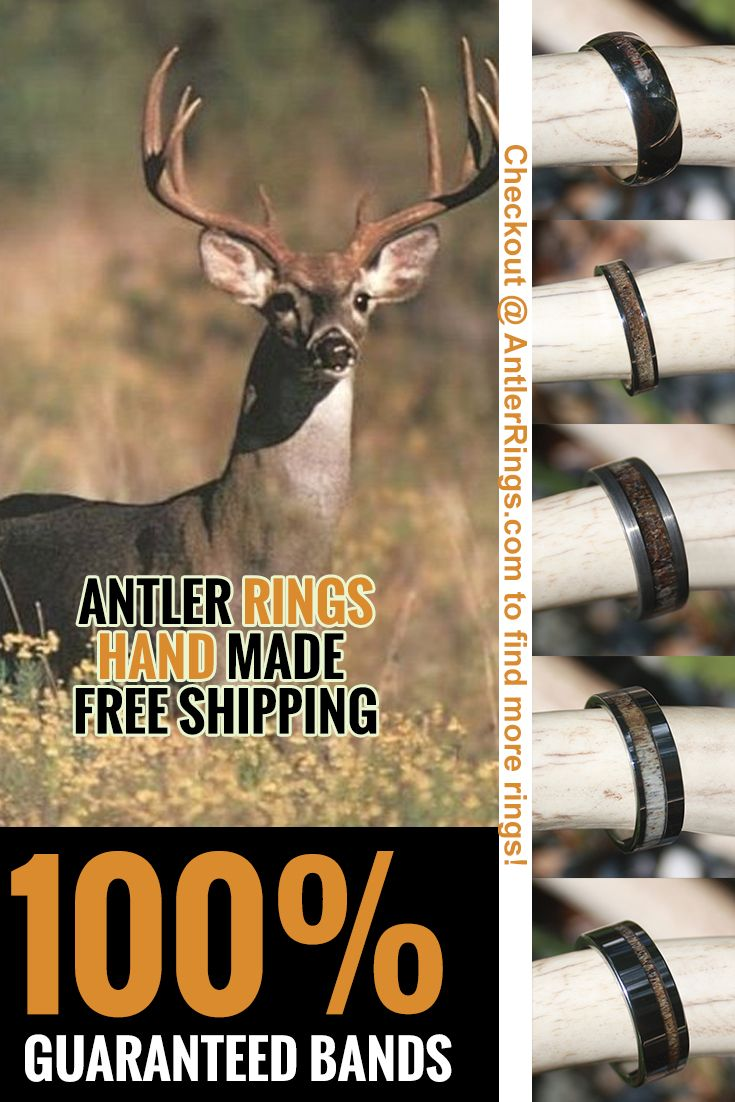 deer antler wedding band antler wedding band Deer and Elk Antler Wedding Bands for Men and Women that Hunt FAIR PRICES