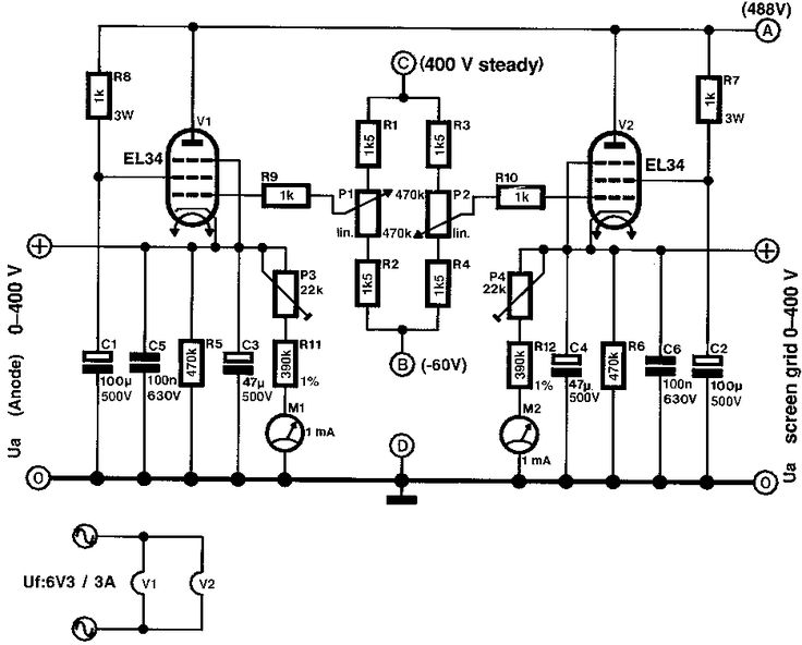 free information society stereo mixer electronic circuit schematic
